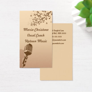 Vernehmbarer Trainer, Sänger, Texter und Visitenkarte