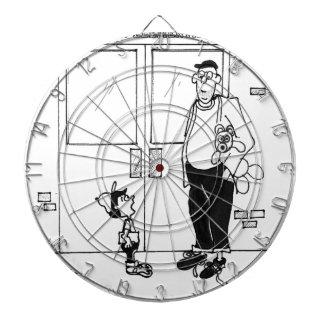 Vernetzungs-Cartoon 3011 Dartscheibe