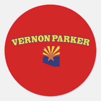 Vernon Parker für Arizona Runder Sticker