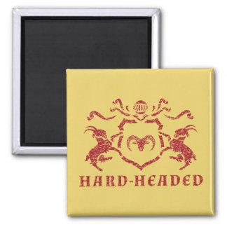 Vernünftiger heraldischer Ziegen-Magnet Quadratischer Magnet