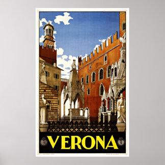 Verona Italien - Vintage Reise-Plakate Poster