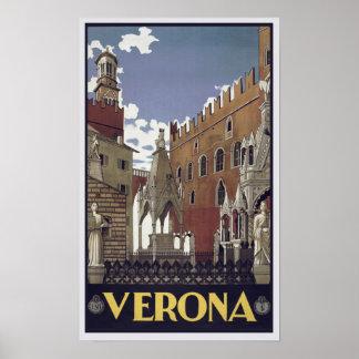Verona-Plakat-Vintage klassische Stadt Poster