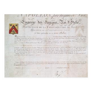 Verordnung des Adels hergestellt unter der ersten Postkarte
