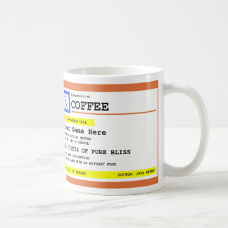 Verordnungs-Kaffee personalisiert Kaffeetasse