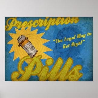 Verordnungs-Pillen-Plakat Poster