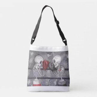 Verpacken-Skelett kreuzen vorbei Tasche