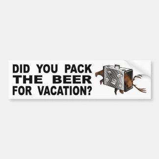 Verpackten Sie das Bier für Ferien? Autoaufkleber