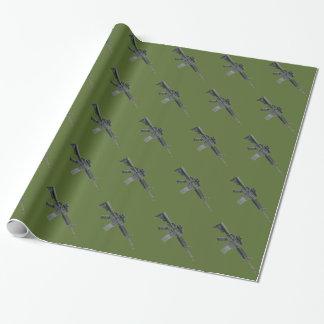 Verpackung Odgrüne Militärgeschenk-M4 Geschenkpapier