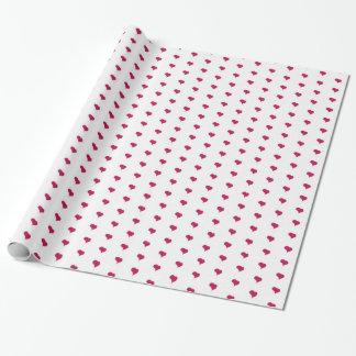 Verpackungs-Papier-Fuchsien-Herzen Geschenkpapier