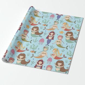 Verpackungs-Papier - lassen Sie uns Meerjungfrauen Geschenkpapier