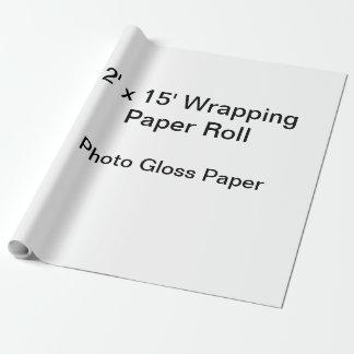 Verpackungs-Papier (Rolle 2x15, Foto-Glanz-Papier) Geschenkpapier