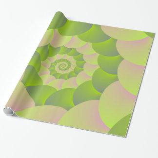 Verpackungs-Papier-Spirale im Rosa und in den Geschenkpapier