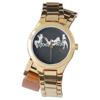 Verpackungs-Uhr der Frauen Gold Armbanduhr