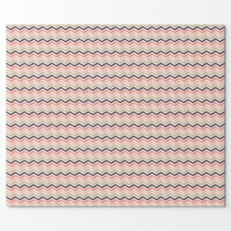 Verpackungspapier mit rosa Zickzack Muster Geschenkpapier