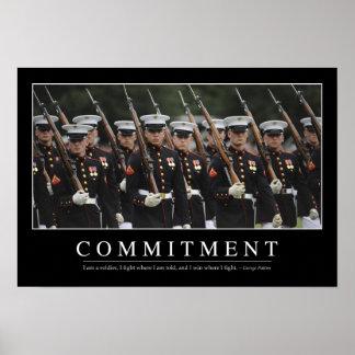 Verpflichtung: Inspirierend Zitat Poster