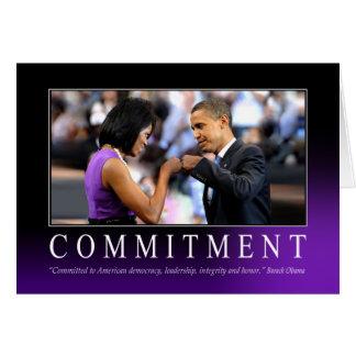 Verpflichtung (Obama-Faust-Stoß) Karte