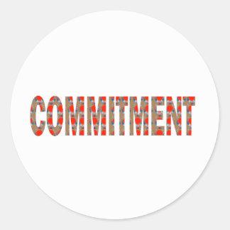 VERPFLICHTUNG Versprechen-Eid-Verantwortung Runde Sticker