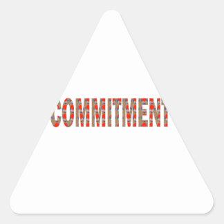 VERPFLICHTUNG Versprechen-Eid-Verantwortung Dreieckige Aufkleber