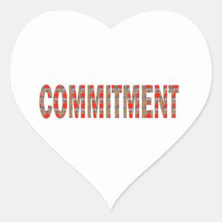 VERPFLICHTUNG Versprechen-Eid-Verantwortung Herz Aufkleber