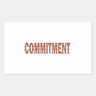 VERPFLICHTUNG Versprechen-Eid-Verantwortung Rechteckige Sticker