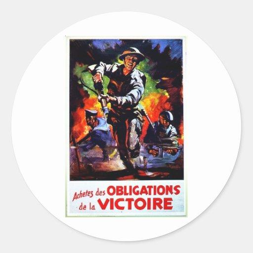 Verpflichtungen Victorie Runder Sticker