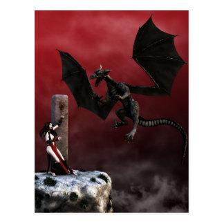 Verpflichtungs-gotische Fantasie-Kunst-Postkarte