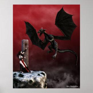 Verpflichtungs-gotisches Fantasie-Kunst-Plakat Poster