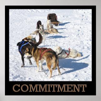 Verpflichtungs-Schlitten-Hundeplakat Poster