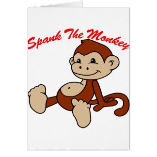 Spank the monkey! Verdrisch den Affen! -