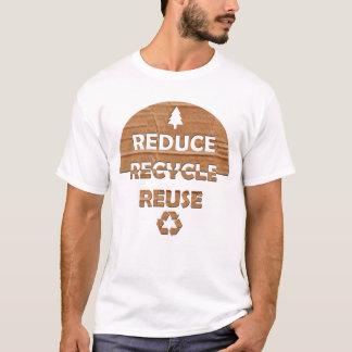 Verringern Sie recyceln Wiederverwendung T-Shirt