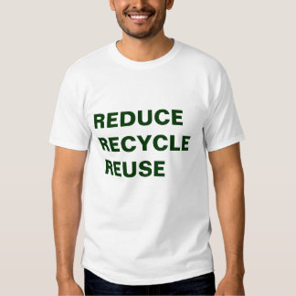 VERRINGERN SIE RECYCELN WIEDERVERWENDUNG T-Shirts