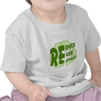 Verringern Sie Wiederverwendung recyceln 2 Shirts