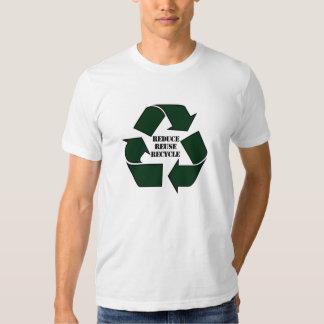 Verringern Sie Wiederverwendung recyceln des T-Shirts