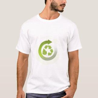 Verringern Sie Wiederverwendung recyceln die T-Shirt