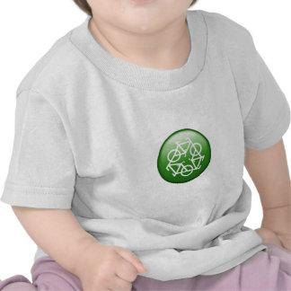 Verringern Sie Wiederverwendung recyceln grünes Fa Hemden