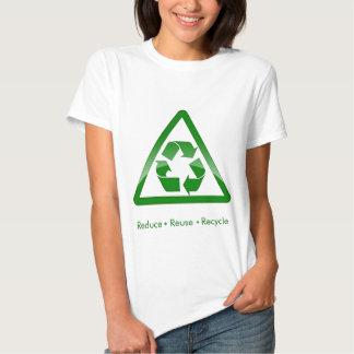 """""""verringern Sie Wiederverwendung recyceln"""" grünes Tshirt"""