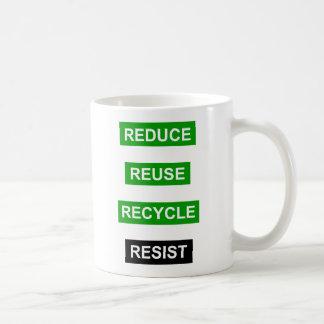 Verringern Sie Wiederverwendung recyceln Kaffeetasse