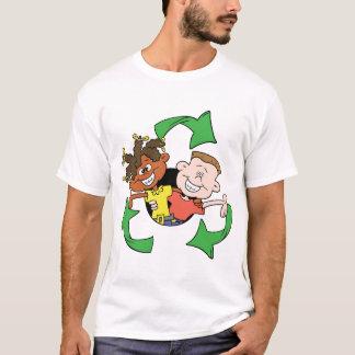 Verringern Sie Wiederverwendung recyceln Kinder T-Shirt