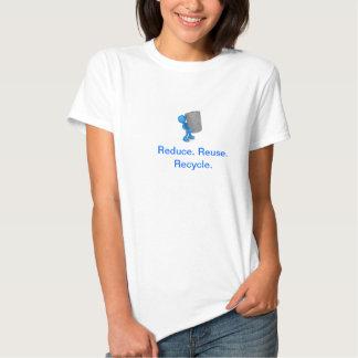 Verringern Sie Wiederverwendung recyceln Shirts