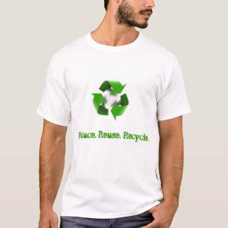 Verringern Sie. Wiederverwendung. Recyceln Sie T-Shirt