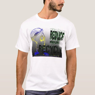 Verringern Sie Wiederverwendung recyceln T - Shirt