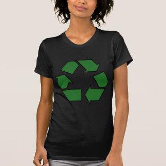 Verringern Sie Wiederverwendung recyceln T-Shirt