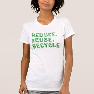 Verringern Sie Wiederverwendung recyceln T-Stück Hemden