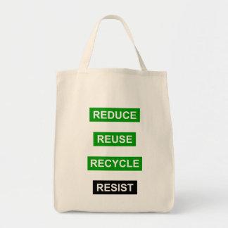 Verringern Sie Wiederverwendung recyceln Tragetasche