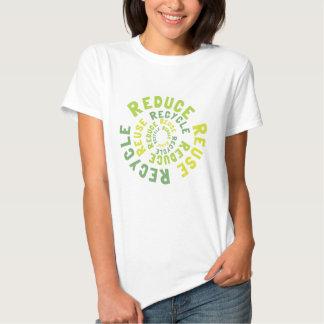 Verringern Sie, Wiederverwendung recyceln Tshirts