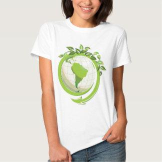 Verringern Sie Wiederverwendung recyceln um die Shirt