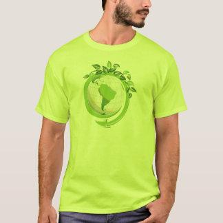 Verringern Sie Wiederverwendung recyceln um die T-Shirt