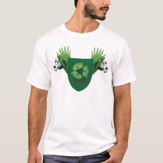 Verringern Sie Wiederverwendung recyceln Wappen T-Shirt