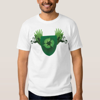 Verringern Sie Wiederverwendung recyceln Wappen Tshirts