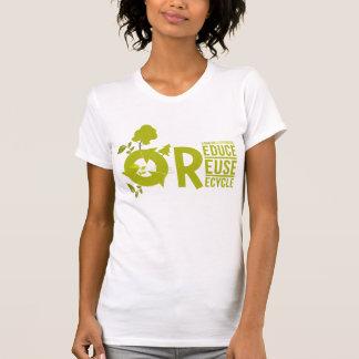 Verringern-Wiederverwendung-Recyceln Sie Shirt